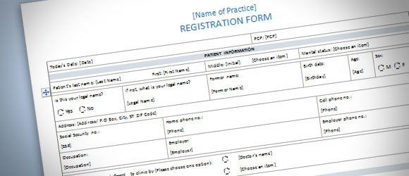 Registration Form Template for Word 2013