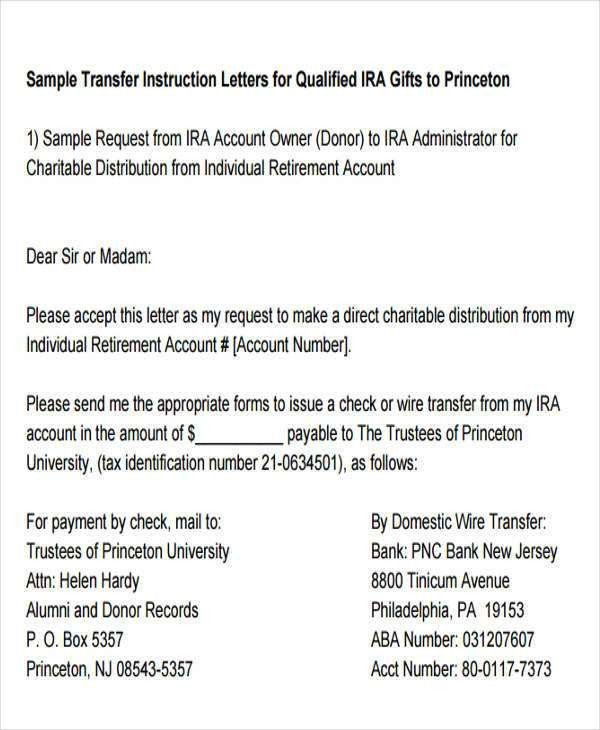 Fund Transfer Letter Template - 9+ Free Word, PDF Format Download ...