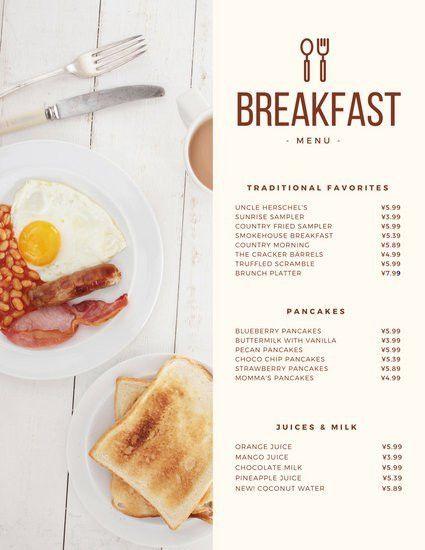 Modern Continental Breakfast Menu - Templates by Canva