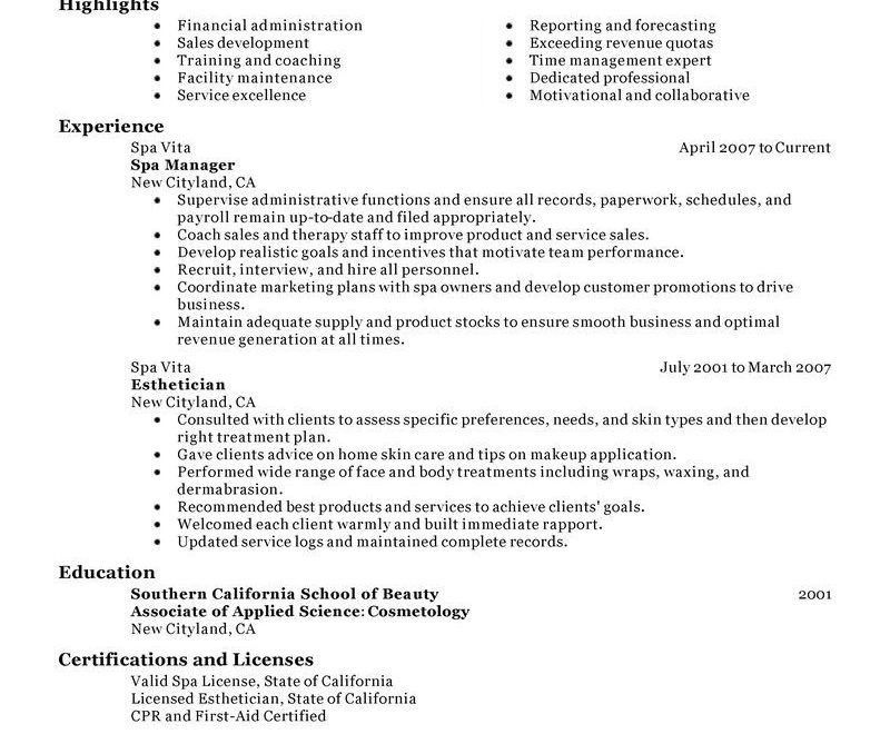 Spa Director Resume Cover Letter. assistant spa manager cover ...