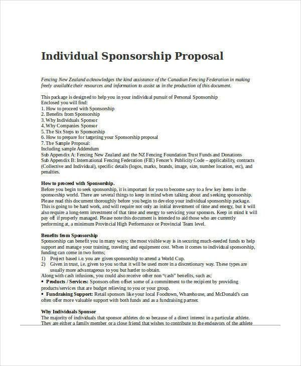 30+ Sponsorship Proposal Examples, Samples