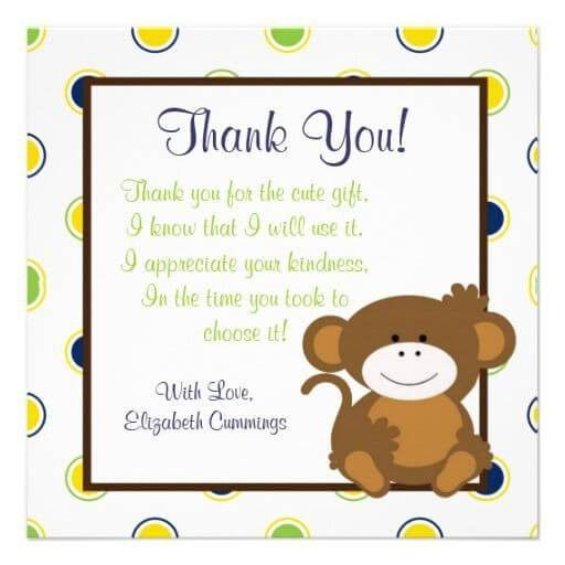 Thank You Card: Creative Thank You Cards For Baby Shower Gif Baby ...