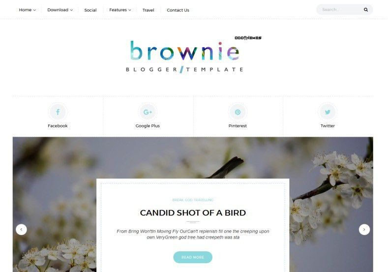 Brownie Blogger Template • Blogspot Templates 2017