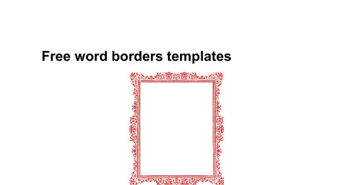 Free word borders templates - Google Docs