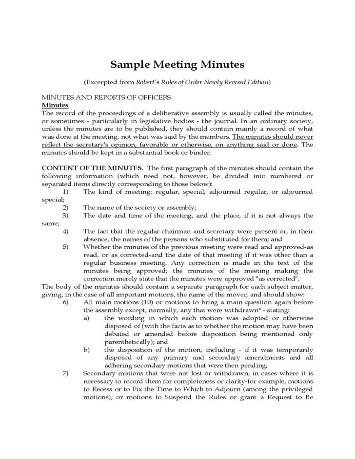 Classic meeting minutes - Office Templates