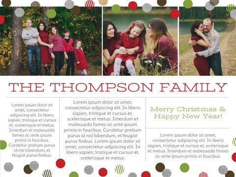Christmas Newsletter,Christmas Letter Template - Smilebox