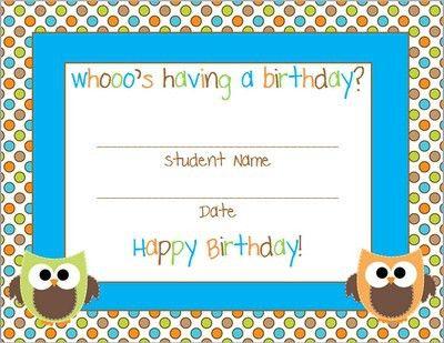 Best 25+ Birthday certificate ideas on Pinterest | Birthday ...