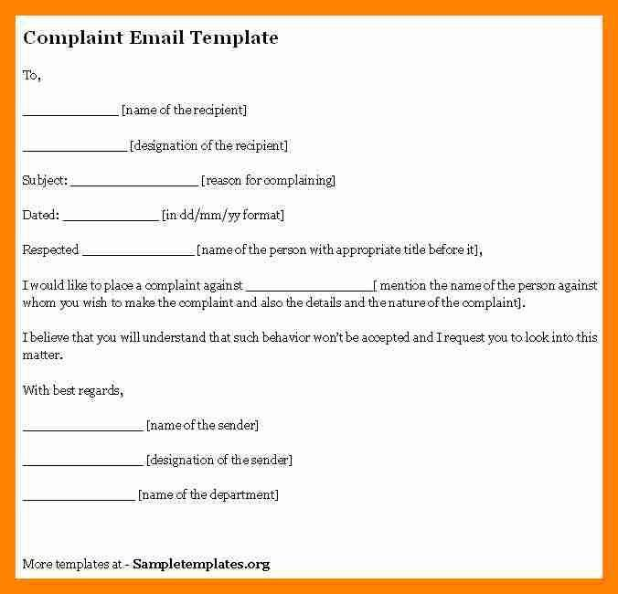 7+ complaint email sample | resume sections