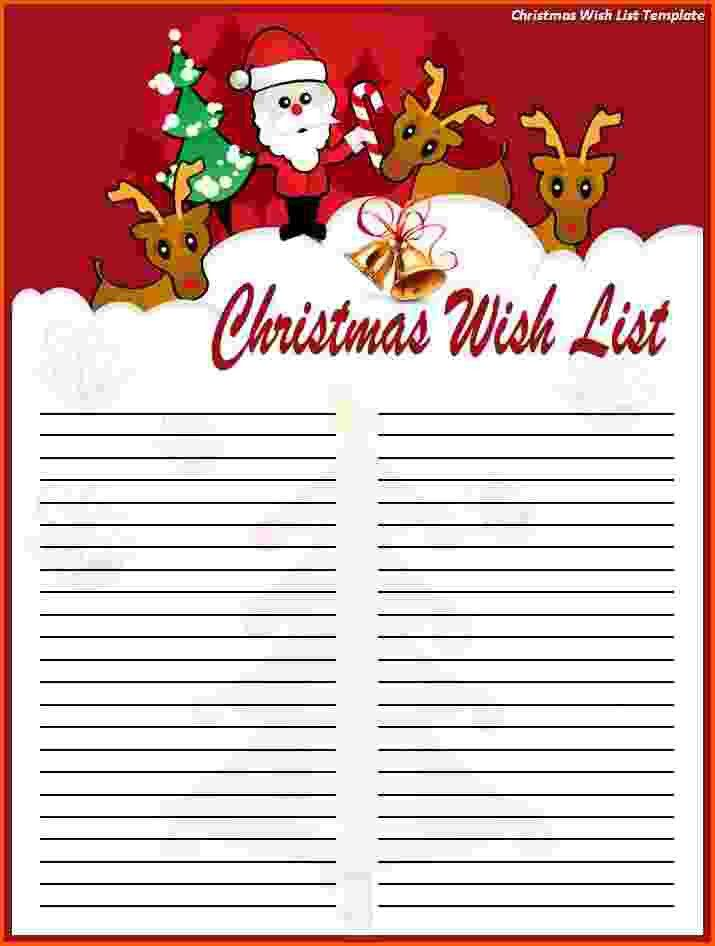 8+ Christmas List Template Free | Survey Template Words  Free Christmas List Template