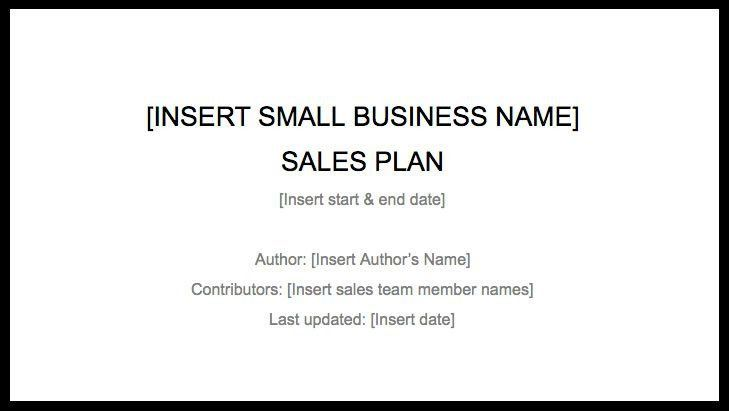 Sales Plan Template – How to Create a Sales Plan to Drive Business ...