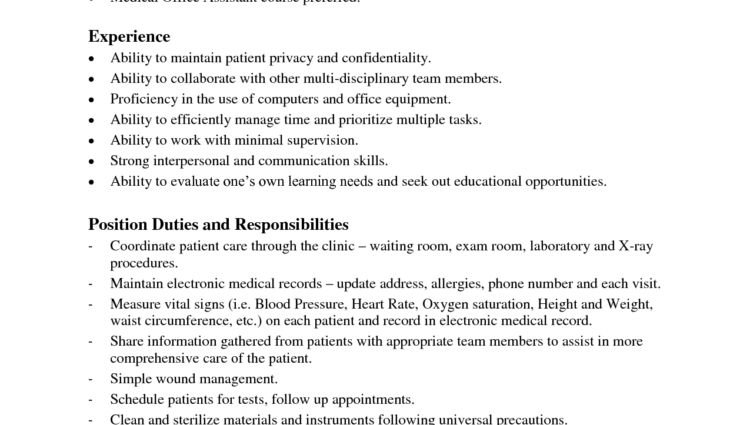 Medical Office Assistant Job Description position duties and ...