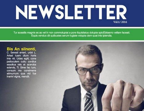 25 Free Impressive Business Newsletter Templates for Download ...