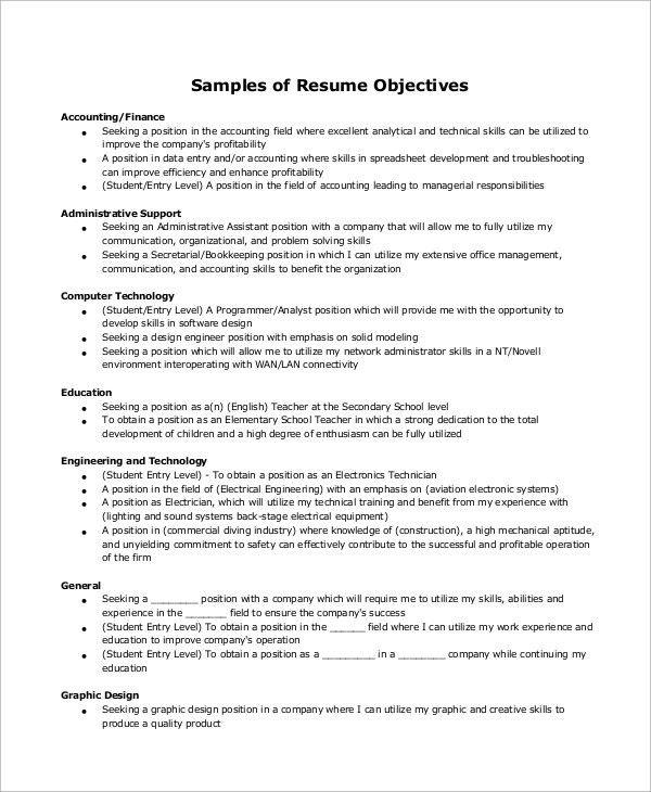 Resume Example - 9+ Samples in Word, PDF