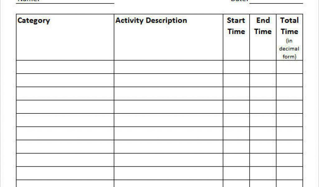 Time Log Template. Here Is Preview Of This First Sample Workout .