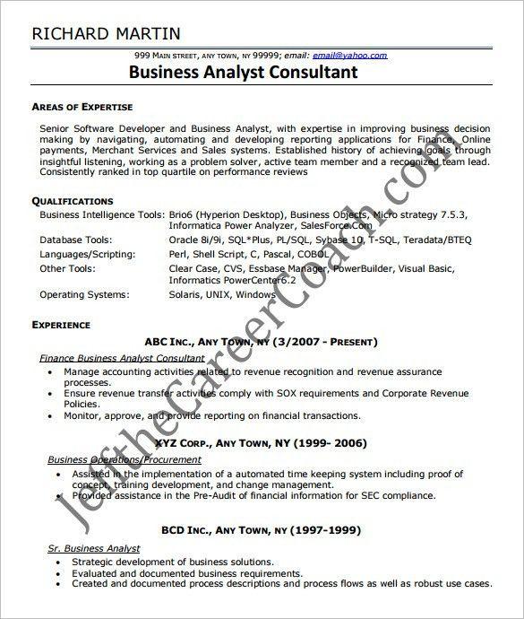 entry level business analyst resume sample sample ba resumes