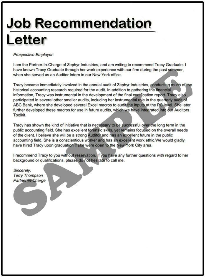 How to write a Job Recommendation Letter | Samples