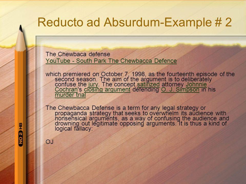 Reductio Ad Absurdum In formal logic, the reductio ad absurdum is ...