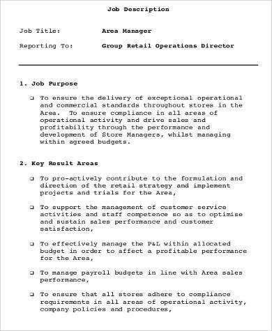 Retail Sales Job Description. Job Performance Evaluation At&T ...
