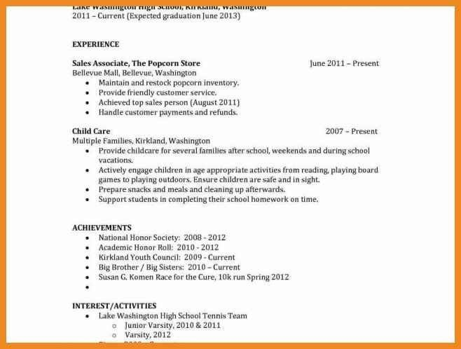 resume expected graduation | art resume examples