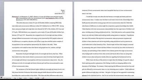 Help with Article Review Formatting | Article Critique Format