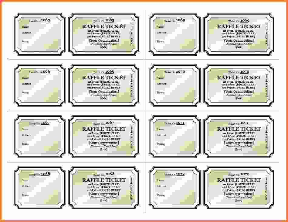 raffle ticket template – Marmadukescoachhouse.