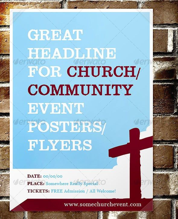 32 Best Church Flyer Templates | Wakaboom