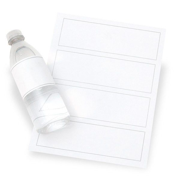 BLANK WATER BOTTLE LABELS 24CT | Gartner Studios