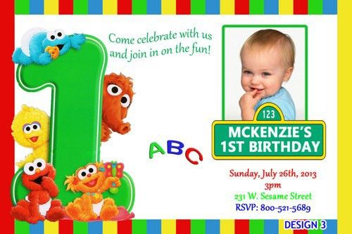 Birthday Invites: Awesome Sesame Street 1St Birthday Invitations ...