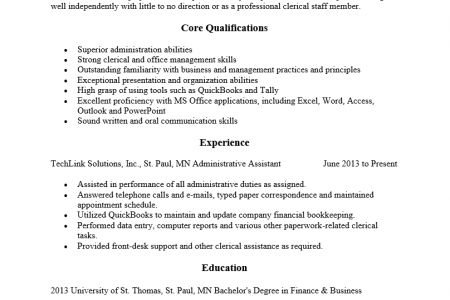 Resume in plain text format