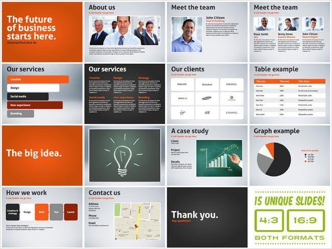 presentation deck template universal pitch deck one powerpoint ...