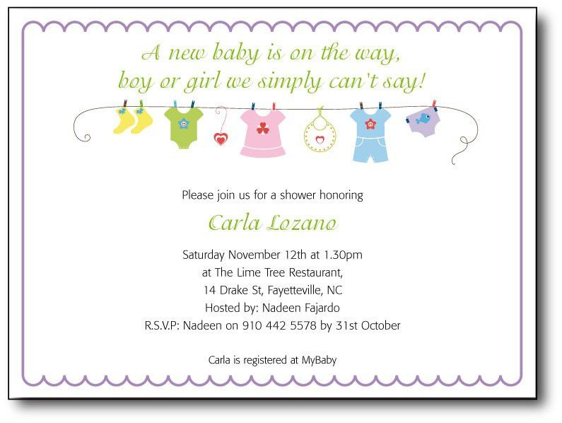 Baby Shower Invitation Message - marialonghi.Com