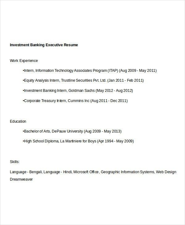 Simple Banking Resume - 29+ Free Word, PDF Documents Download ...