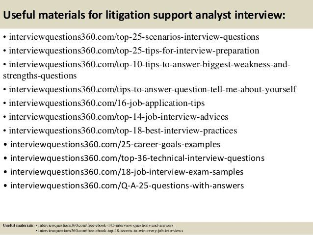 Top 10 litigation support analyst interview questions and answers