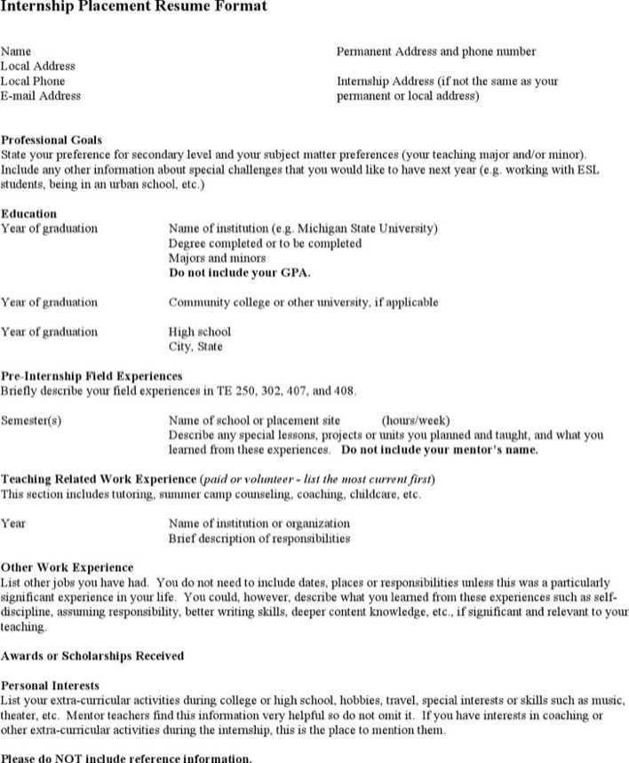Internship Optometrist Resume | Download Free & Premium Templates ...