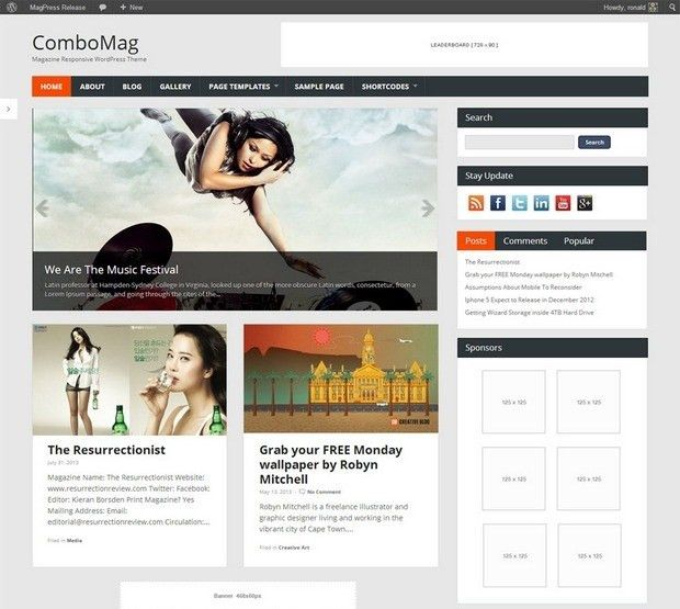 19 Free Responsive Website Templates | free responsive templates ...