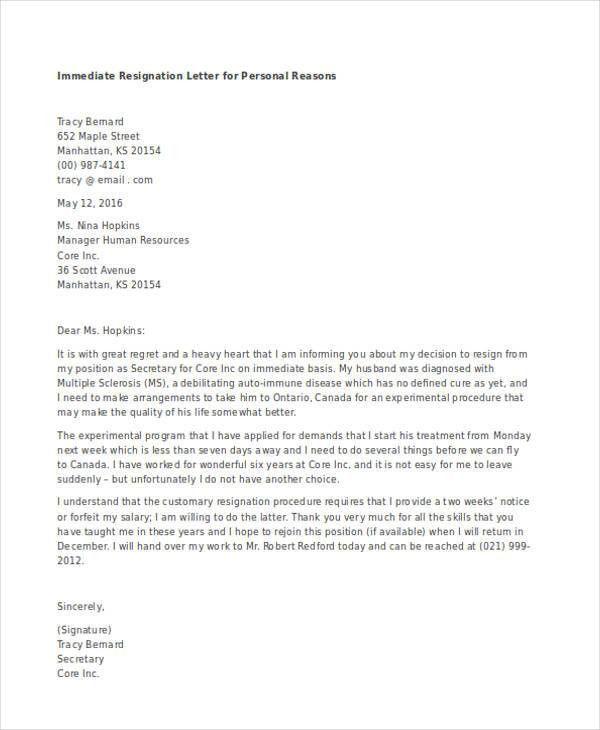 Email Resignation Letters. Resignation Letter Formal Letter ...