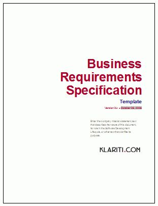 Sample Business Requirement Document & Template
