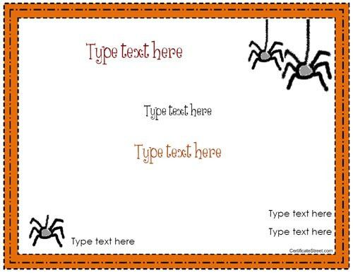 Blank Certificate - Halloween Certificate Template ...