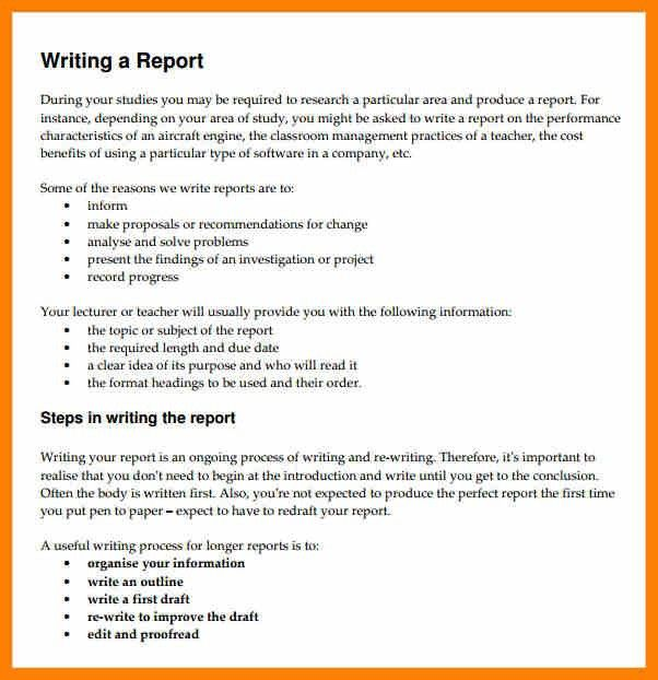 5+ Formal Report Writing Format | Target Cashier  Formal Reports Samples