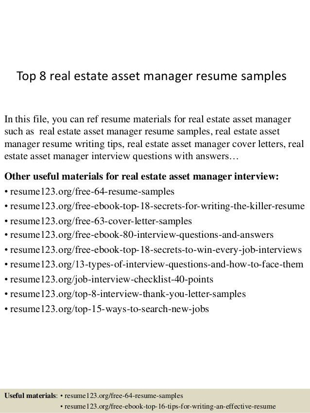 real estate resumes real estate resume writing guide resume