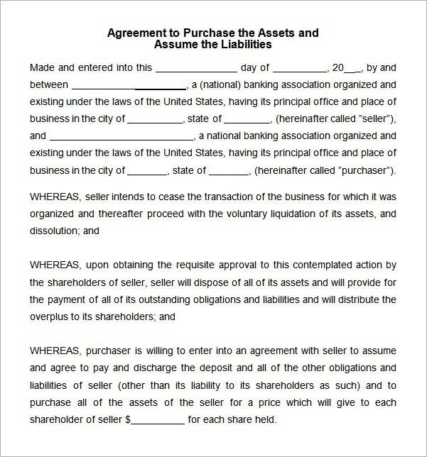 Asset Purchase Agreement - 7 Free Pdf , Doc Download