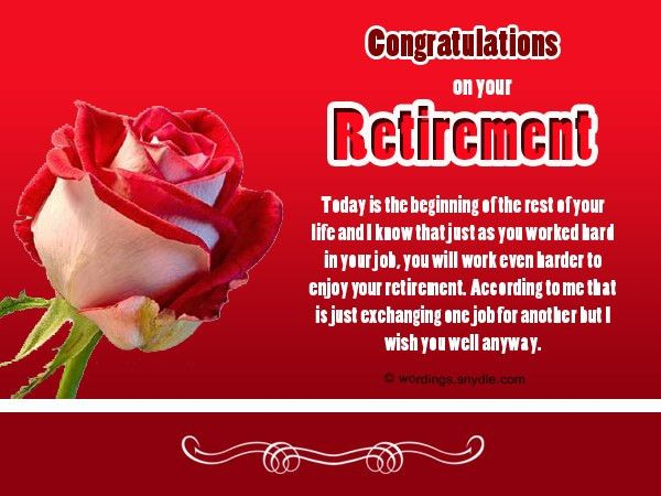 Retirement Wishes, Greetings and Retirement Messages - Wordings ...