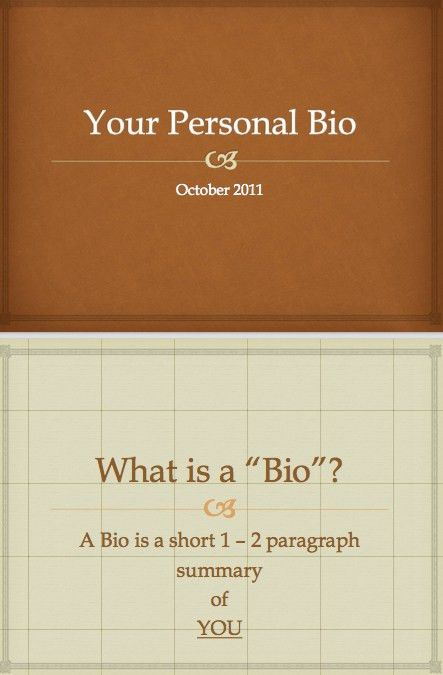 Biography template | Word Excel PDF