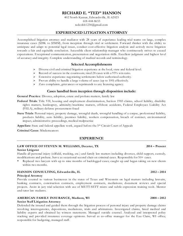 Ted Hanson Resume March 1