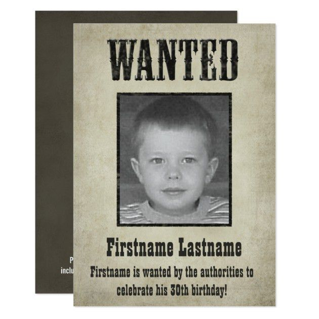 Wanted Poster Invitations & Announcements | Zazzle