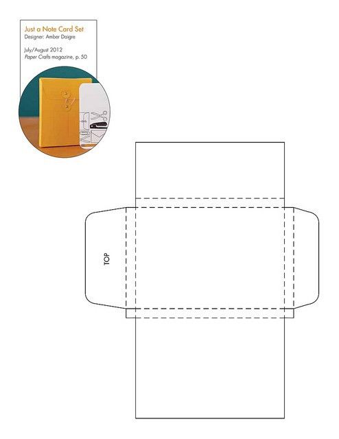 Free Note Card Box pattern/template (and many more templates ...