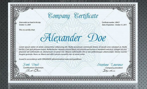 Quality and Popular Certificate Print Design Templates