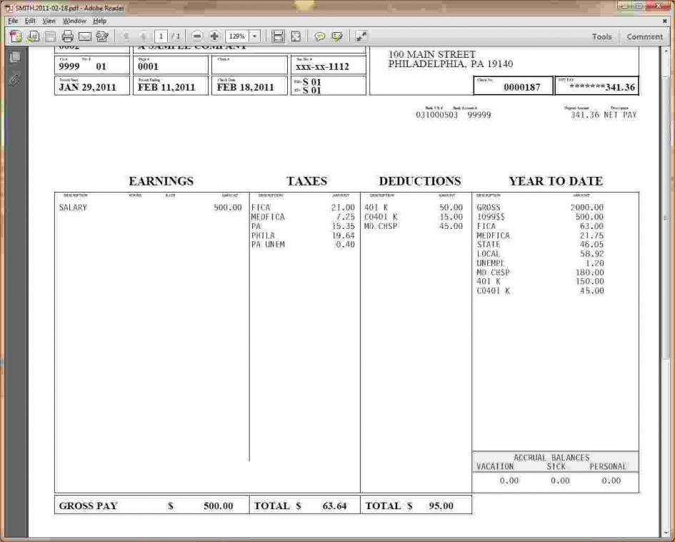 Checks Template Pay Stub Calculator Free Payroll Check Stub ...