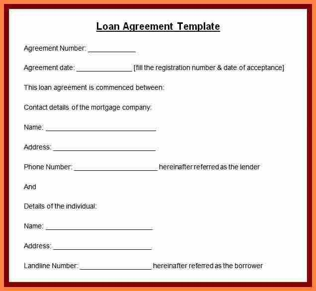 8+ personal loan agreement template microsoft word | Purchase ...