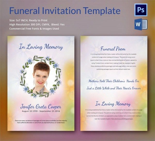 Funeral Ceremony Invitation [Template.billybullock.us ]